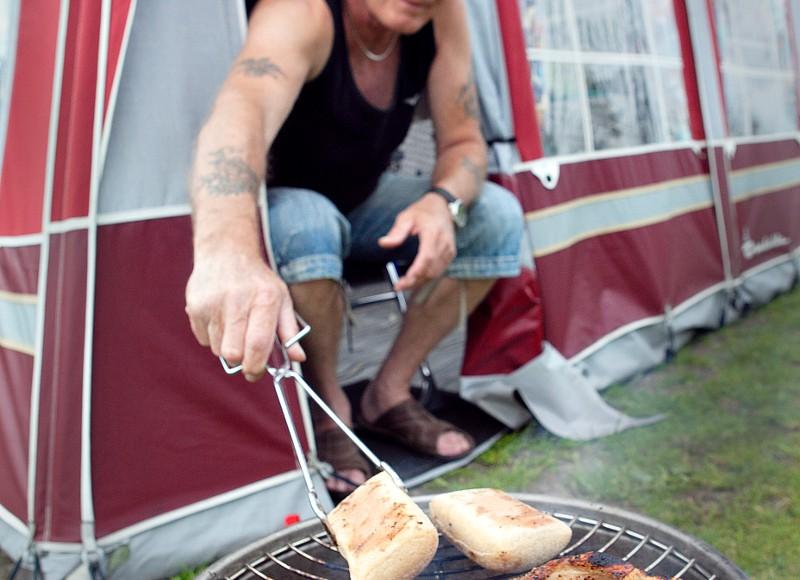 Grilning på camping